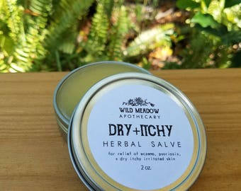 Dry + Itchy Herbal Salve || eczema, psoriasis, and dry skin relief