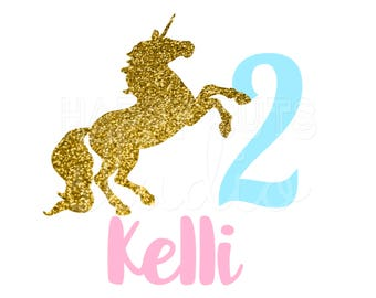 Gold Unicorn Decal Etsy - Glitter custom vinyl decals for shirts
