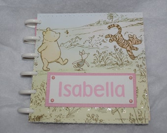 Classic Winnie the Pooh Personalized Scrapbook for Girl