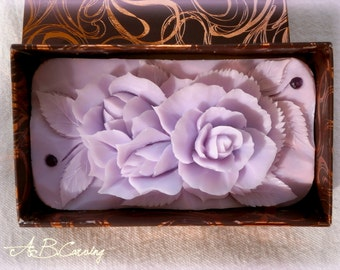 40%OFF Purple wedding soap, Carving rose soap, floral soap, roses for her, purple soap rose, purple rose, anniversary gift, Wedding gift