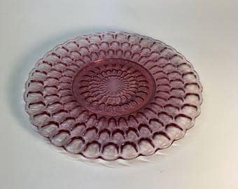 Retro op-art glass trivet   pot holder