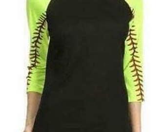 Softball Raglan Tee Shirt