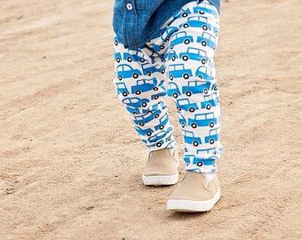 ORGANIC Handmade Baby Leggings Leggings - Car Print Leggings - Car Leggings - Organic Leggings - Organic Baby Clothes - Toddler Leggings