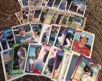 36 Atlanta Braves Baseball Cards 1980's