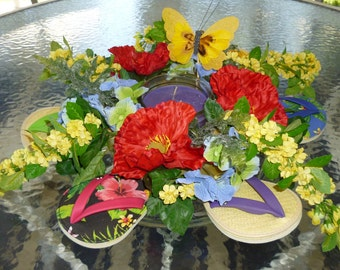 FLIP FLOP CANDLE Centerpiece with Drink Coasters