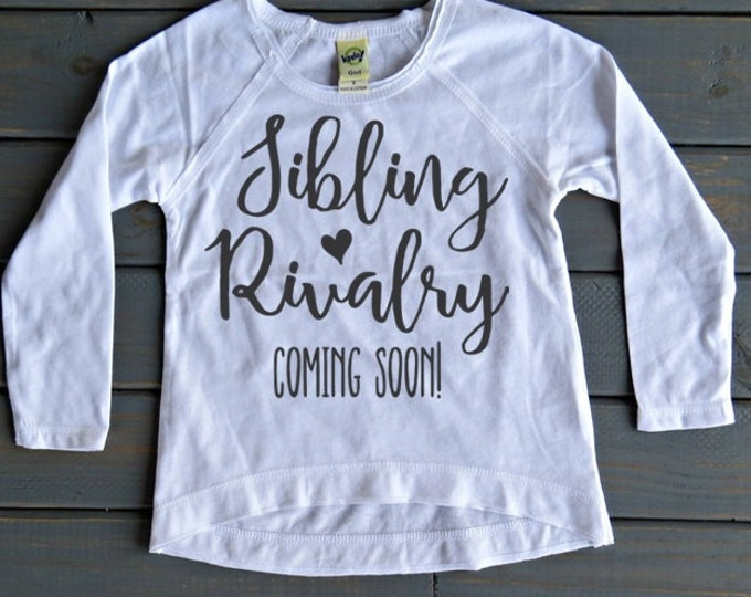 Sibling Rivalry Coming Soon, New Baby Announcement, Sibling Shirt, Pregnancy Announcement Shirt, Baby Shower Gift