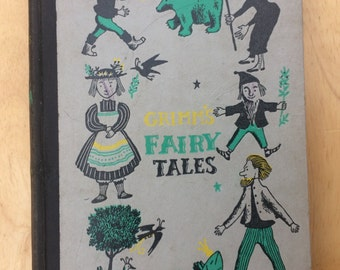 Antique Grimm's Fairy Tales; 1954 Grimm's Fairy Tales Book; Vintage Children's Book; Vintage Grimm's Fairy Tales Book; Antique Children Book