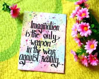 Imagination quote wall art Imagination poster Imagination art Imagination quote Watercolor imagination wall art Hippie wall art Hippie quote