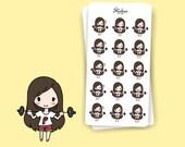 WEIGHTLIFTING Sarah | Planner Stickers, Workout, Strength, Exercise, Beast, Dumbbells, Lifts, Deadlift, Scrapbook, Calendar | SD37