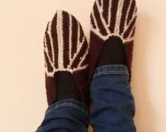 Slippers from wool, slippers, wool, house shoes, adult slippers, Leg Warmers, Socks, warm, winter, autumn, accessories, Clothing