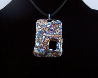 Geometric Jewelry Fashion Jewelry Blue Necklace Titanium Pendant Purple Necklace Navy blue Pendant Unique Necklace Valentines day Gift idea