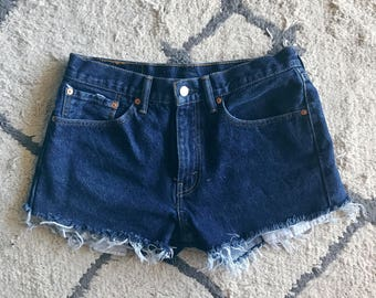 Dark Wash High Waisted Levis