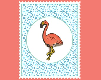 Flamingo Bird Enamel Pin