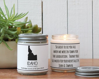 Idaho Scented Candle - Homesick Gift | State Scented Candle | Moving Gift | College Student Gift | Idaho Lover | Missing You Gift