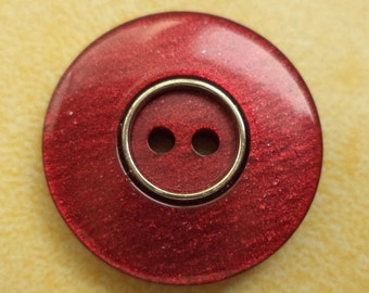 7 dark red buttons 21mm (6711) Red