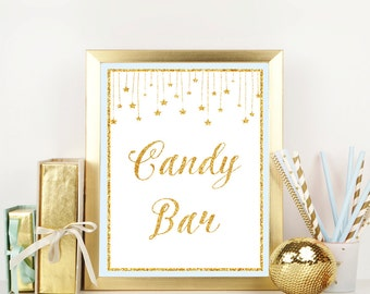 Twinkle Twinkle Little Star, Candy bar sign, Baby Shower Sign, Dessert sign, Candy buffet, Tassels Baby Shower Decorations,Table sign, Twi-1