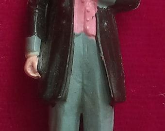 """Franklin Pierce  VINTAGE MARX US President #14 Hand painted plastic figure 2.75"""", G 1960's"""