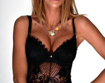 Unique Amber Jewelry, Contemporary Jewelry, Contemporary Necklace, Art Necklace For Her, Amber, Modern Necklace Pendant, Honey Amber Jewelry