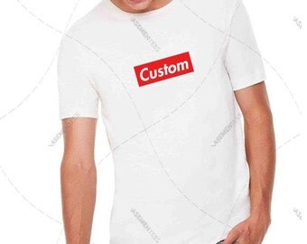 "Unisex - Premium Retail Fit ""Custom"" 2017 Custom Crewneck T-Shirt, Tee, Unisex (S,M, L, XL+) Oversized? Order big! Box Logo"