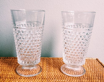 Pair of Vintage Hobnail Glasses