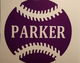 Baseball, Softball, Tball, coach Decal - permanent vinyl - Great for coolers, Yeti & Rtic cups etc. Decal only.