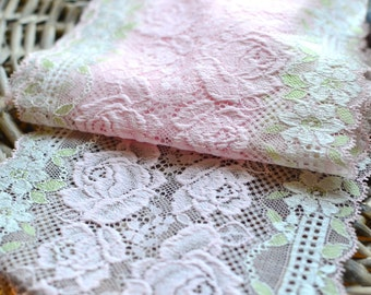 Pink lace trim I Pink lingerie lace I  Pink Lace I Lace trim I Border lace I Shabby chic lace I Pink Lace I Lace trim I Lingerie Lace