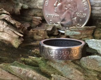 Vermont state quarter coin ring