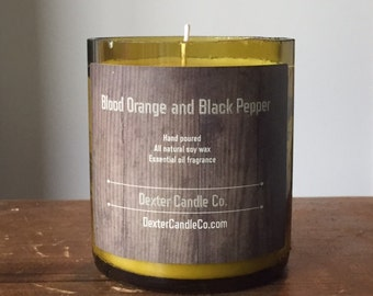 Blood Orange and Black Pepper Candle