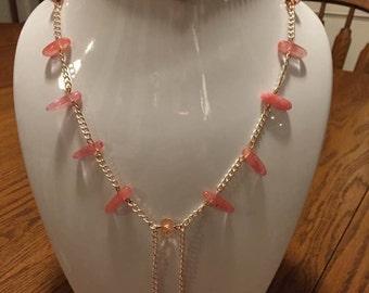 Natural Cherry Quartz Necklace