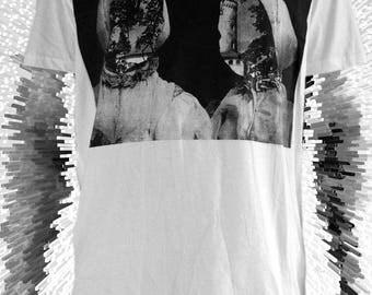 Slovakian Twins Collage Screenprint Organic T shirt