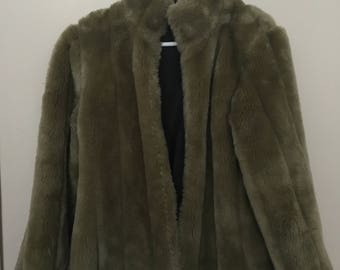 Vintage Green Fur Coat