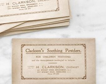 Set of 3 Vintage Pharmaceutical Envelopes Medical Drug Store Paper Ephemera
