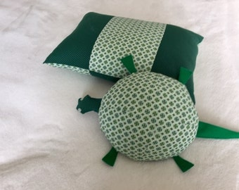 Stuffed Turtle & Matching Pillow