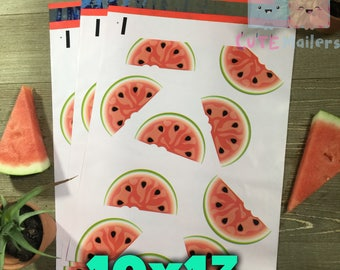 20-40 pcs Watermelon Poly Mailers 10x13