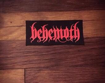 Behemoth Logo Band Patch Blackened Death Metal Black Metal Death Metal