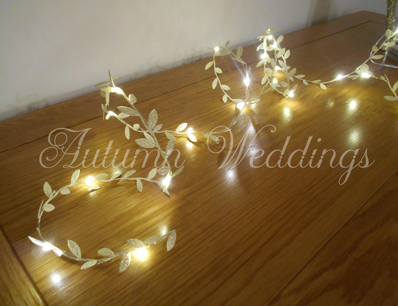 Gold Leaf Fairy Lights 2 m Garland String Lights LED