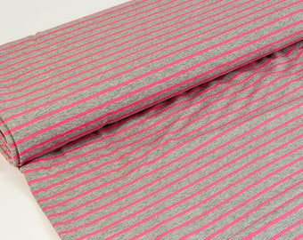 Sweat Laurine - stripes - grey - neon pink Hilco