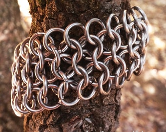 European 4 in 1 Chainmail Bracelet, Stainless Steel 4 in 1 Bracelet, European 4 in 1 Bracelet, Chainmaille Bracelet