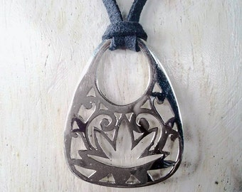 Blooming Lotus necklace, flower necklace, Lotus Charm, Silver Lotus pendant, gifts for her, silver lotus flower necklace, statement necklace