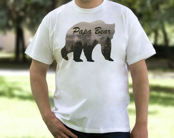 Papa Bear Shirt Dad Gifts Gift for Father Papa Bear Tshirt Father Gift Papa Bear T shirt Papa Bear Tee Gift for Dad Husband Gift PA1042