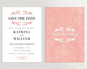 Save the Date Cards, Wedding Save the Date, Wedding Suite UK, Modern Save the Date Card, Wedding Invitation Suite, Elegant Save the Date