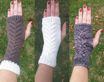 Hand Knit Fingerless Gloves | Fingerless Gloves | Hand Knit Fingerless Mitts | Thumbless Mitts ||| CHATHAM MITTS