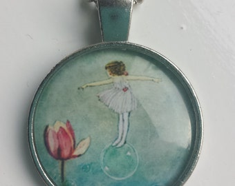 Flower Fairy pendant necklace