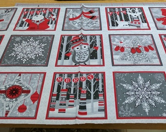 Holiday Magic Panel Cotton Fabric by Henry Glass