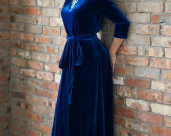 Chic, Swank, elegant dress, velvet dress. Элегантное бархатное платье