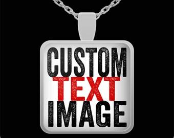 Personalized pendant necklace, custom pendant necklace, custom necklace, custom gifts for men, custom gift for women, personalized mens gift