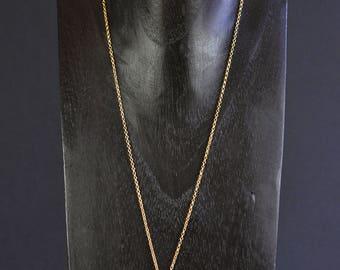 Necklace Cyane - plate gold, Garnet and labradorite