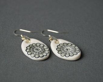 """Ears """"Unreason"""", porcelain, ceramic jewel earrings"""