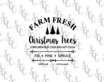 Reusable Stencil - Farm Fresh Christmas Trees - Many Sizes to Choose from!