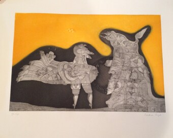 Signed Bernard Berthois Rigal Aquatint Etching